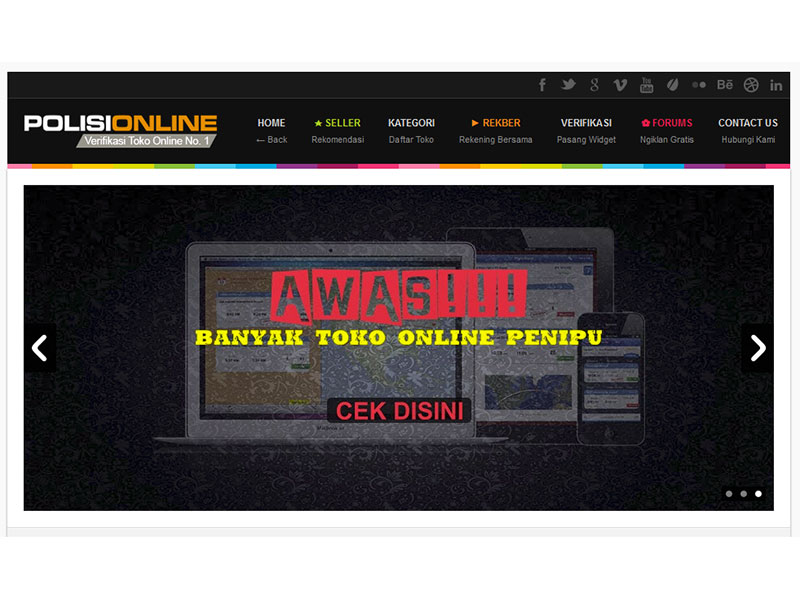 PolisiONLINE.com | Verifikasi Toko Online No. 1 di Indonesia