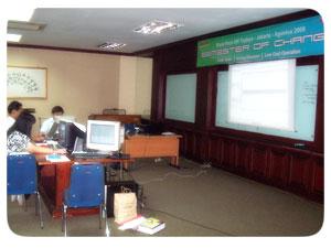 Pelatihan Webmaster Di PT Top Jaya Sarana Utama 3-4 November 2008