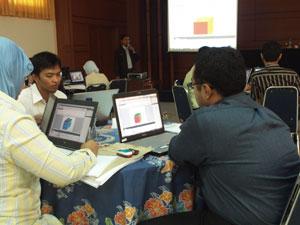 Pelatihan Web Design di Badan Pemeriksa Keuangan (BPK), 20-24 Desember 2008