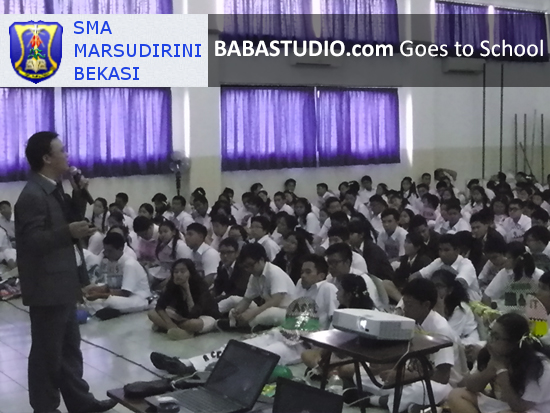 Baba Studio Goes To School, SMA Marsudirini Bekasi & SMK Bina Nusa Slawi (Tegal)