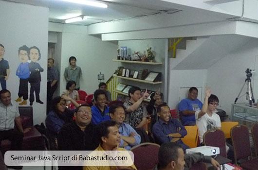 Seminar Java Script di Babastudio.com