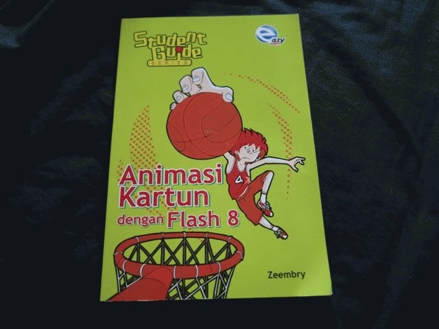 Buku Animasi Kartun dengan Flash 8 sampai di Malaysia
