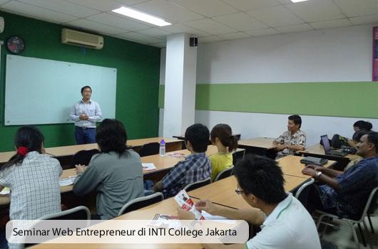 Seminar Web Entrepreneur Babastudio.com Di INTI College Jakarta