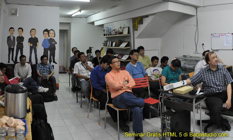 Seminar HTML 5 untuk alumni Babastudio.com