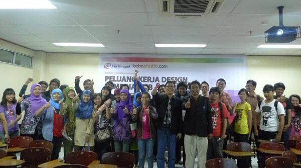 Babastudio.com Mengadakan Seminar Peluang Kerja Desain Di Universitas Indonusa Esa Unggul